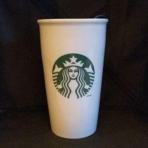 STARBUCKS CERAMIC COFFEE TUMBLER